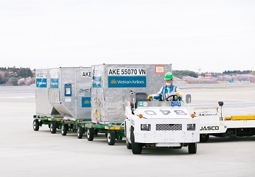 We also unload, sort and tag export cargo in preparation for loading onto planes, and load it properly to prevent it from falling during a flight.