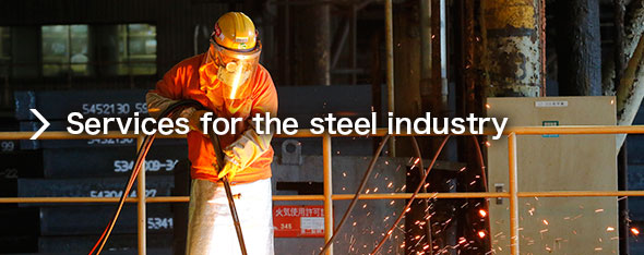 Services for the steel industry