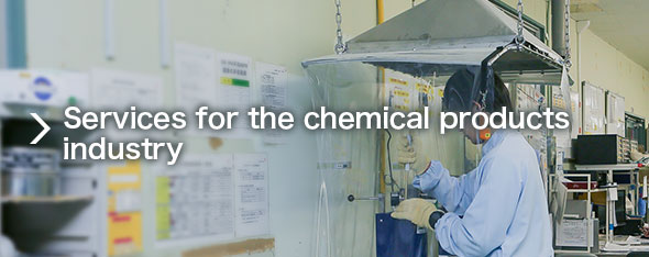 Services for the chemical products industry