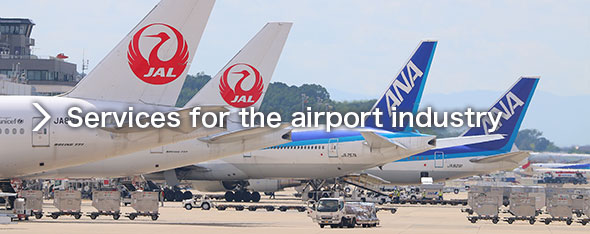 Services for the airport industry