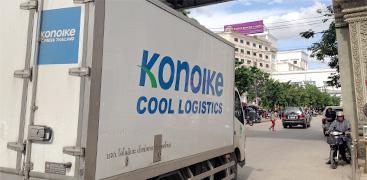 日系企業でいち早く、ベトナム~カンボジア間の相互通行ライセンスを取得。国境での積み替えが不要で、効率的な輸送を実現。