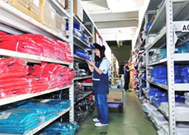 リードタイム短縮に寄与。<br>輸入アパレル製品のワンストップサービス